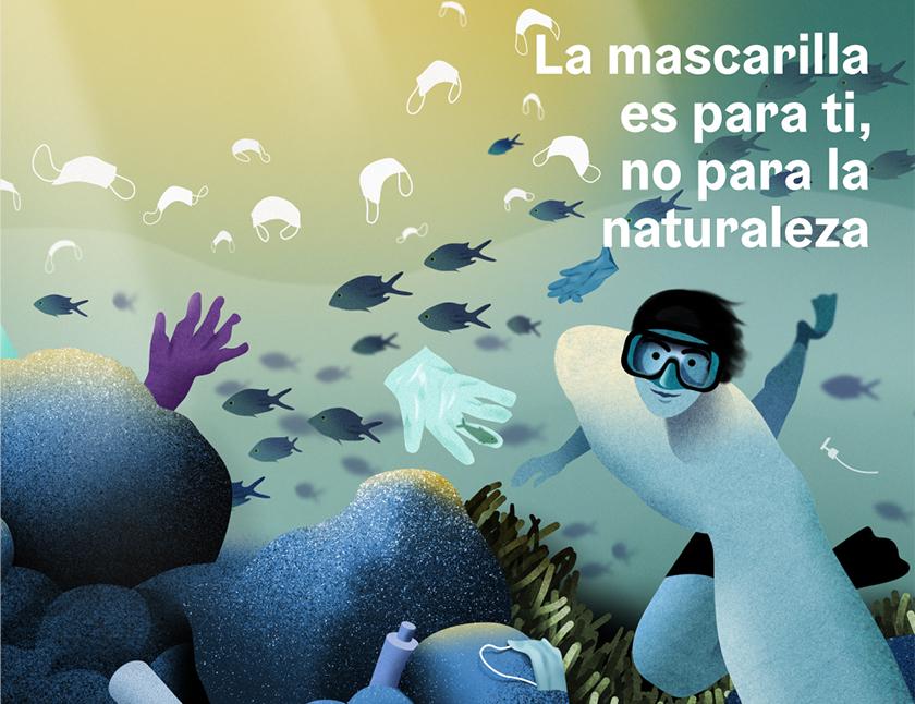 La mascarilla es para ti, no para la naturaleza