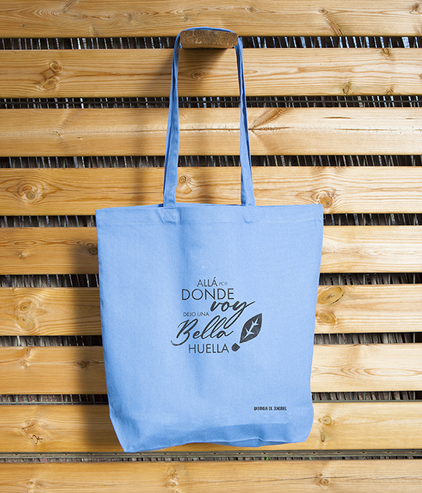 Bolsa Ecológica Tote Bag Algodón Azul