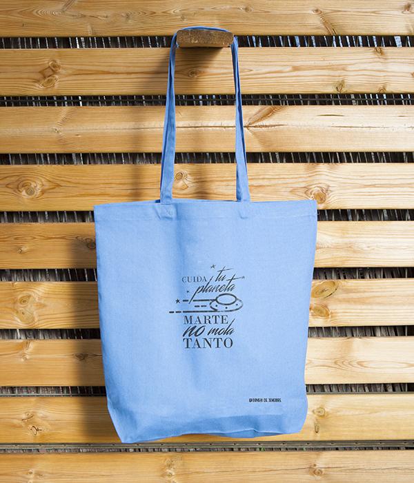 Blue Tote Bag Cuida Tu Planeta