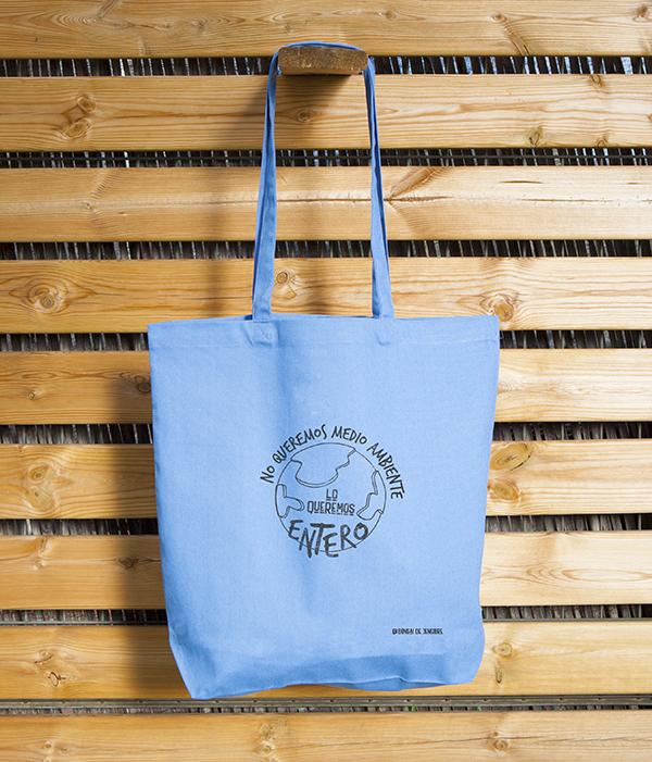Bolsa Ecológica Tote Bag Azul Medio Ambiente