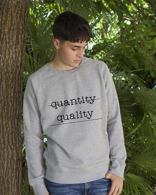 Sudadera Ecológica Algodón Grey Quatity Quality