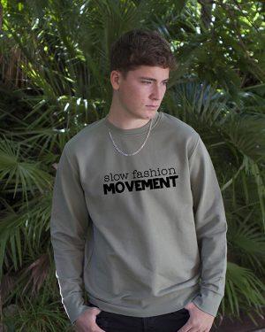 Sudadera algodón Ecológico Green Slow Fashion movement